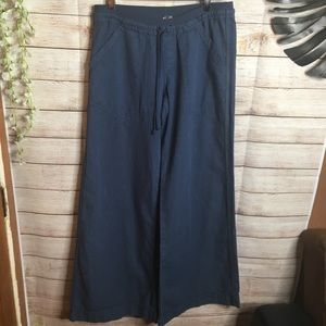 Hard Tail Forever navy blue wide legs pants size S